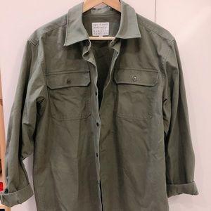 Agnes B x Barney's Army Green Shirt Jacket